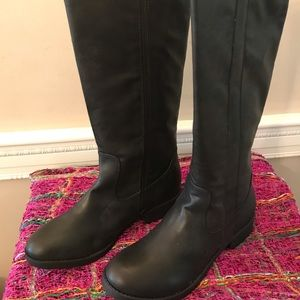 Mia Girl Black Riding boots-Woman's 8.5